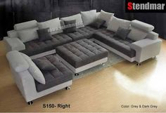Modern Fabric Sectional Sofa Set The is Stendmar's solution to the perfect furniture piece for any occasion. - 1 x Left sofa. - 1 x Corner sofa. - 1 x Right sofa. Big Couch, Big Sofas, Living Room Sets, Living Room Furniture, Furniture Nyc, Furniture Dolly, Unique Furniture, Fabric Sectional, Sectional Sofas