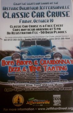 October 19, 2012 Classic Car Cruise in downtown Jeffersonville, Indiana