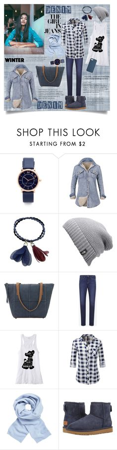 """""""Denim on cold weather"""" by madeleinee7 ❤ liked on Polyvore featuring Marc Jacobs, The North Face, TrueLu, Uniqlo, John Lewis, UGG and Coach"""