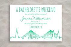 Charleston Bachelorette Invitation by ModernSouth on Etsy, $14.50