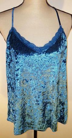 4a69bb60f8fd7 Secret Treasures Intimates XL Size 16-18 Velour Cami Sleepwear Teal Corsai  Lace  SecretTreasures