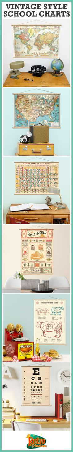 These all-in-one DIY poster kits let you decorate your home, classroom or office with a vintage style wall hanging!