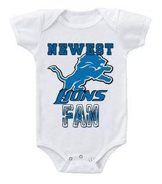 Detroit Lions I Love Watching With Grandma Baby Short Sleeve Bodysuit