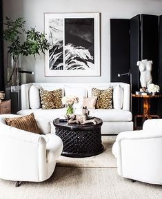 gorgeous and glamorous living room