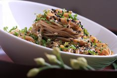 Open sesame! That's what you'll be saying to your mouth when you have a bowl of these Sesame-Ginger Soba Noodles in front of you.