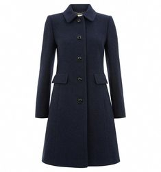 Buy Hobbs Wool Gweneth Coat, Coral from our Women's Coats & Jackets range at John Lewis & Partners. Winter Jackets Women, Coats For Women, Hobbs Coat, Blazers, Navy Coat, A Line Mini Skirt, Blue Coats, Clothes, Hobby Lobby