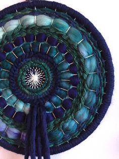 Navy circular weave by YarnAndYeg on Etsy https://www.etsy.com/ca/listing/526441424/navy-circular-weave