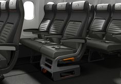 Wheelchair Travelers on Airlines May Get Better Air Access! Airline travel hits a nerve among disabled passengers using a wheelchair, but new industry developments may have a positive effect! Airline Travel, Air Travel, Travel Tips, Airplane Interior, Airplane Seats, Aircraft Interiors, Gadgets, Preschool Special Education, New Industries