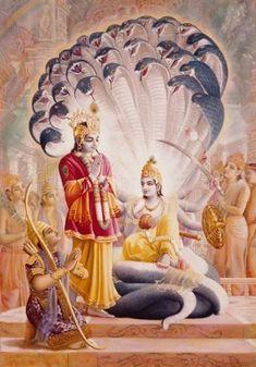 Krishna And Arjuna Visit Maha-Vishnu Hare Krishna, Krishna Leela, Krishna Radha, Durga, Hanuman, Lord Krishna Wallpapers, Lord Krishna Images, Krishna Pictures, Hindu Dharma