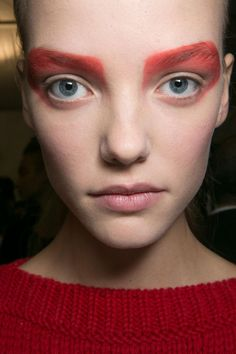 13 Must-See Beauty Trends from Milan Fashion Week Spring 2016 | Max Mara's SS 2016 makeup look oozes superhero vibes—costume inspiration anyone? | @StyleCasterBeauty
