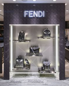 The Fendi SS16 Men's collection displayed at the new pop-up store in Yurakucho Hankyu, Tokyo.