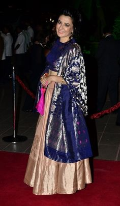 Mini Mathur at Arpita Khan's reception