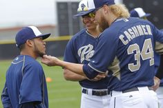 san diego padres spring training | San Diego Padres pitcher Andrew Cashner compares facial hair with ...