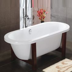 The Duchy Clarence Freestanding Flat Top Bath 1800mm X 800mm Wooden Frame Comes