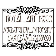 royal art deco font - Google 검색