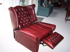 Amazing Chesterfield Genuine Leather Antique Oxblood Red Queen Anne Armchair    Cigars And Stuff   Pinterest   Chesterfield, Queen Anne And Armchairs
