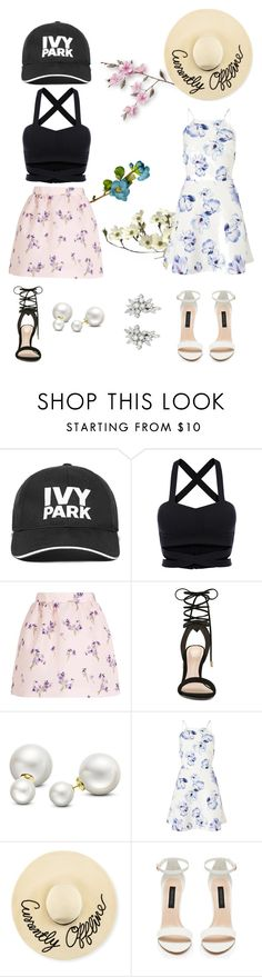 """Which one?"" by lialicious on Polyvore featuring Ivy Park, RED Valentino, ALDO, Allurez, Lipsy, Eugenia Kim, Forever New and summerhat"