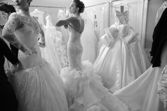 back stage at the #pnina_tornai runway show collection 2014. #weddings