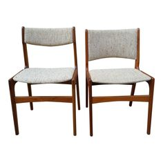 Danish Modern Teak Dining Chairs - A Pair - Image 1 of 7