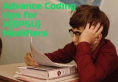 Advanced Coding guide on XE, XP, XS and XU modifier