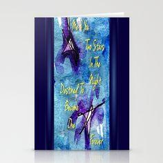 Two Stars In The Night Stationery Cards #ArtsyCrafteryDesignStudio