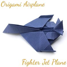 be/aDlFMDnBtzQ Origami Airplane (Fighter Jet Plane) Tutorial (Hyo Ahn) youtu. Origami Airplane, Airplane Crafts, How To Make Origami, Useful Origami, Airplane Fighter, Origami Tutorial, Jet Plane, Fighter Jets, Cool Things To Buy