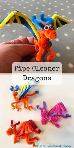 Make your own pipe cleaner dragon Straw Straw Bags Straw Weaving Straw Art Straw Wallpaper Straw for Kids Fun Crafts For Kids, Summer Crafts, Creative Crafts, Projects For Kids, Diy For Kids, Straw Art For Kids, Creative Ideas For Kids, Simple Kids Crafts, Art Projects