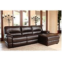 Galveston Top-Grain Power Reclining Leather Sectional