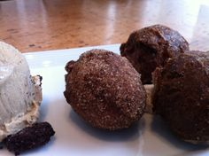 #Chocolate #donuts with ice cream. Photo courtesy of Amanda Puck | A photo of Province | Added by @Amanda Puck