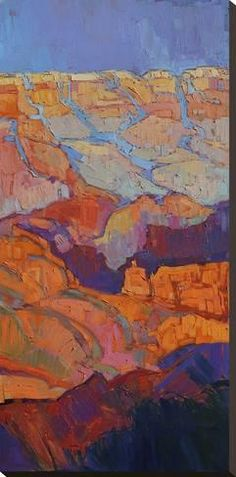 Grand Canyon sunset oil painting on triptych canvases, by artist Erin Hanson Abstract Landscape, Landscape Paintings, Abstract Art, Acrylic Paintings, Oil Paintings, Grand Canyon, Southwestern Art, Unique Paintings, Stretched Canvas Prints
