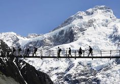 new z.     Hooker Valley Swing Bridge....some fun we had trying to get me across this...lost my nerve in the middle...great great day