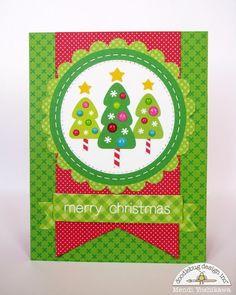 Doodlebug Design Inc Blog: Sugar Plum Christmas Tree Card by Mendi Yoshikawa