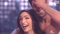 Meryl and Maks react to Carrie Ann telling them they should get married.