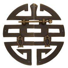 Chinese Brass Hardware ''Happiness'' Character Cabinet Face Plate : All Cabinet Decor, Cabinet Hardware, Brass Hardware, Chinese Cabinet, Chinese Interior, Chinese Element, Wardrobe Furniture, Chinese Patterns, Chinese Furniture