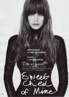 Heavy Bangs   Vogue Nippon