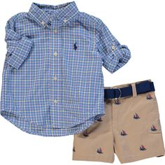 Two Piece Blue Shirt With Shorts - Baby Boy - Baby Clothing - Baby & Nursery - Kids - TK Maxx
