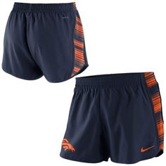 Denver Broncos Nike Women's Warpspeed Pacer Performance Shorts - Navy Blue
