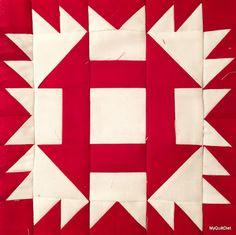 The Sawdash quilt block tutorial by My Quilt Diet. Red & White Modern Block swap.
