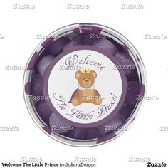 Welcome The Little Prince Gum #teddy #babyshower #baby #prince #boy