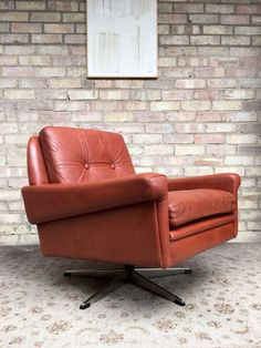 Vintage 70 S Sven Skipper Tan Leather Armchair In Home Furniture Diy