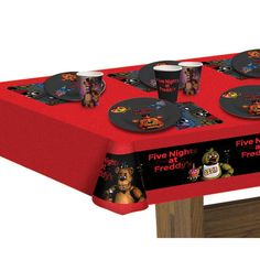 8 Pack Five Nights at Freddy's 7 Inch Plate (Case of 78185 Happy 12th Birthday, 9th Birthday Parties, Bear Birthday, Birthday Box, Sons Birthday, Birthday Ideas, Wholesale Party Supplies, Five Nights At Freddy's, Party Time