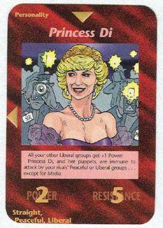 Illuminati Princess Di New World Order Game Trading Card