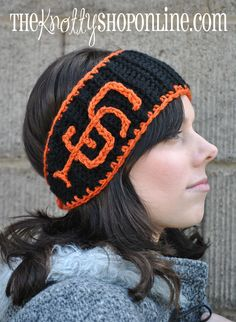 San Francisco Giants inspired headwrap/headband. $20.00, via Etsy. Want!!