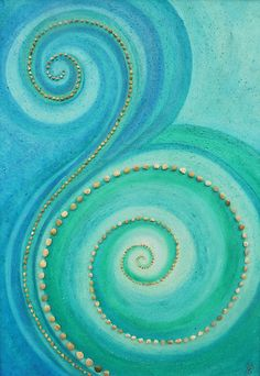 Breathe and flow. That is beautiful, I love all the shades of blue. By Jill Lena Ford.
