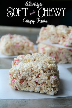 Have you ever had a crispy treat what was dry and crunchy? It's the worst, right? This recipe give you Always Soft and Chewy Rice Crispy Treats ,every time!