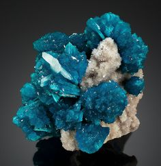 Minerals: Miniature - Cavansite from Wagholi, Pune District, Maharashtra, India.