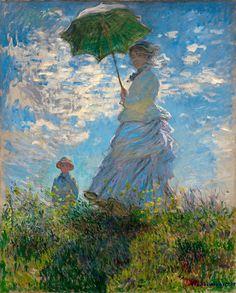 Claude Monet : Woman with a ParasolMadame Monet by RenfieldsGarden