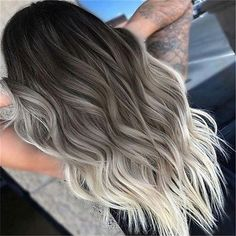 Center Part Long Ombre Wavy Party Synthetic Wig – mollyee - All For Hair Color Trending Ombre Blond, Brown Hair With Blonde Highlights, Balayage Hair Blonde, Brown Blonde Hair, Ombre Hair Color, Light Brown Hair, Hair Highlights, Blonde Wig, Ash Ombre Hair
