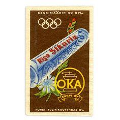 Tulitikkuaski, Oka Kahvi Oy - 1952