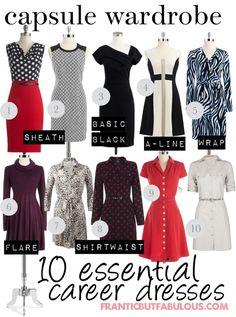 Capsule wardrobe: 10 starter career dresses
